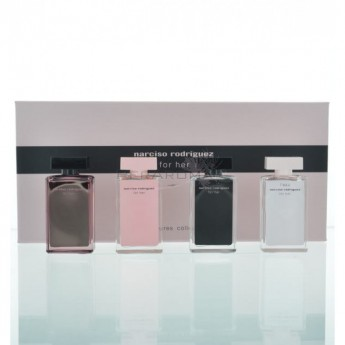narciso rodriguez miniature fragrance set for women4 piece miniature set. Black Bedroom Furniture Sets. Home Design Ideas