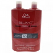 Wella Brilliance Shampoo & Conditioner For Fi..