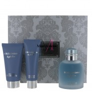 Dolce & Gabbana Light Blue Eau Intense Pour Homme 3pcs Gift Set