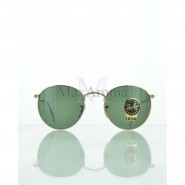 Ray Ban  RB3447 001 Round Metal Sunglasses