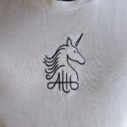 Aaron Terence Hughes White Unicorn Tshirt